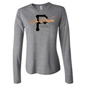script - Juniors' Fit Long Sleeve Jersey T-Shirt
